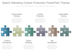 Search Marketing Content Production Powerpoint Themes