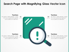 Search Page With Magnifying Glass Vector Icon Ppt PowerPoint Presentation Icon Infographics PDF