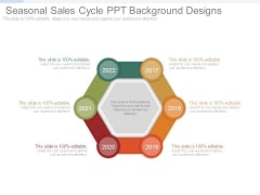 Seasonal Sales Cycle Ppt Background Designs