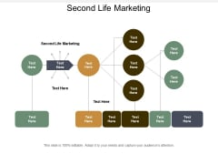 Second Life Marketing Ppt PowerPoint Presentation Outline Influencers Cpb
