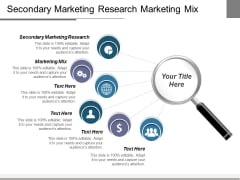 Secondary Marketing Research Marketing Mix Ppt PowerPoint Presentation Model Show