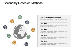 Secondary Research Methods Ppt Powerpoint Presentation Icon Clipart Cpb