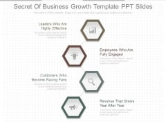 Secret Of Business Growth Template Ppt Slides