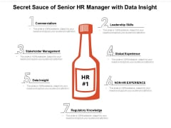 Secret Sauce Of Senior Hr Manager With Data Insight Ppt PowerPoint Presentation Summary Backgrounds PDF