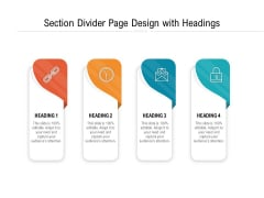 Section Divider Page Design With Headings Ppt PowerPoint Presentation Summary Graphics PDF