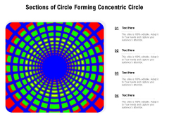 Sections Of Circle Forming Concentric Circle Ppt PowerPoint Presentation Portfolio Styles PDF