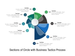 Sections Of Circle With Business Tactics Process Ppt PowerPoint Presentation Infographic Template Layout PDF