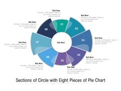Sections Of Circle With Eight Pieces Of Pie Chart Ppt PowerPoint Presentation Icon Display PDF