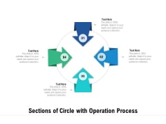 Sections Of Circle With Operation Process Ppt PowerPoint Presentation Influencers PDF