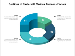 Sections Of Circle With Various Business Factors Ppt PowerPoint Presentation Infographics Styles PDF