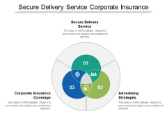 Secure Delivery Service Corporate Insurance Coverage Advertising Strategies Ppt PowerPoint Presentation Ideas Inspiration