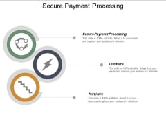 secure payment processing ppt powerpoint presentation styles visual aids cpb
