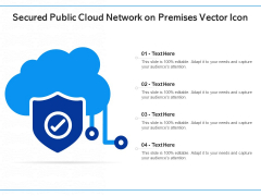 Secured Public Cloud Network On Premises Vector Icon Ppt PowerPoint Presentation Gallery Slideshow PDF