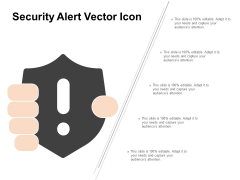 Security Alert Vector Icon Ppt PowerPoint Presentation Summary Gallery