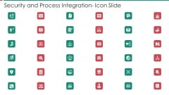 Security And Process Integration Icon Slide Background PDF