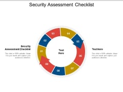 Security Assessment Checklist Ppt PowerPoint Presentation Model Rules Cpb Pdf
