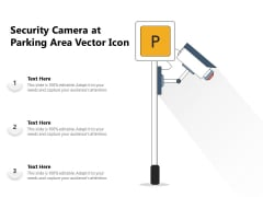 Security Camera At Parking Area Vector Icon Ppt PowerPoint Presentation Icon Templates PDF