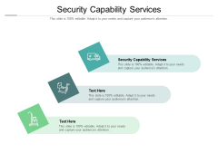 Security Capability Services Ppt PowerPoint Presentation Portfolio Rules Cpb Pdf