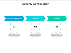 Security Configuration Ppt PowerPoint Presentation Professional Deck Cpb