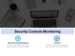 Security Controls Monitoring Ppt PowerPoint Presentation Portfolio Icons Cpb