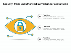 Security From Unauthorized Surveillance Vector Icon Ppt PowerPoint Presentation Gallery Deck PDF