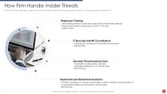 Security Functioning Centre How Firm Handle Insider Threats Ppt Summary Background Image PDF