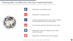 Security Functioning Centre Prerequisites For Effective Secops Implementation Professional PDF
