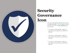 Security Governance Icon Ppt PowerPoint Presentation Layouts Rules