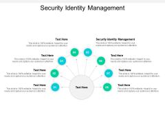 Security Identity Management Ppt Powerpoint Presentation Pictures Portrait Cpb