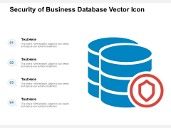 Security Of Business Database Vector Icon Ppt PowerPoint Presentation Portfolio