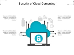 Security Of Cloud Computing Ppt PowerPoint Presentation Inspiration Microsoft