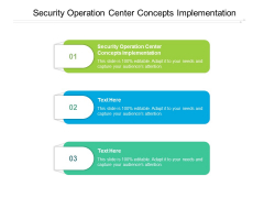 Security Operation Center Concepts Implementation Ppt PowerPoint Presentation Themes Cpb Pdf