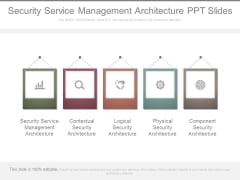 Security Service Management Architecture Ppt Slides
