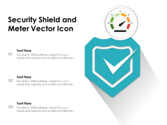 Security Shield And Meter Vector Icon Ppt PowerPoint Presentation Styles Summary PDF