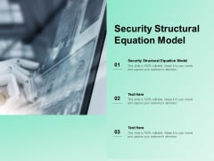 Security Structural Equation Model Ppt PowerPoint Presentation Layouts Inspiration Cpb Pdf