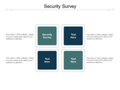 Security Survey Ppt PowerPoint Presentation Ideas Influencers Cpb Pdf