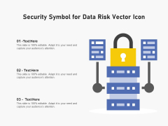 Security Symbol For Data Risk Vector Icon Ppt PowerPoint Presentation Pictures Guide PDF