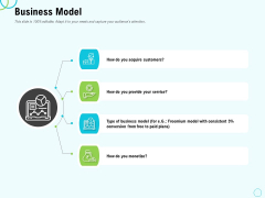 Seed Capital Business Model Ppt PowerPoint Presentation Icon Outline PDF