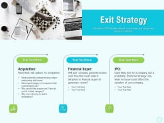 Seed Capital Exit Strategy Ppt PowerPoint Presentation Pictures Infographics PDF