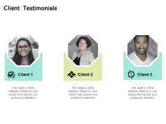 Seed Funding Pitch Deck Client Testimonials Ppt Summary Show PDF