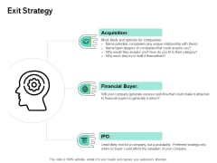 Seed Funding Pitch Deck Exit Strategy Ppt Summary Deck PDF