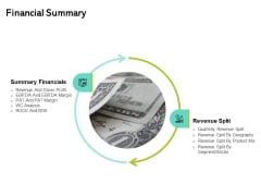 Seed Funding Pitch Deck Financial Summary Ppt Slides PDF
