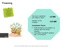 Seed Funding Pitch Deck Financing Ppt Show Master Slide PDF