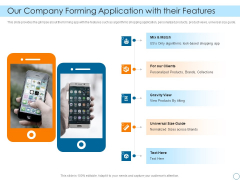 Seed Funding Pitch Deck Our Company Forming Application With Their Features Background PDF