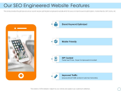 Seed Funding Pitch Deck Our Seo Engineered Website Features Sample PDF