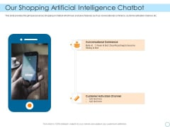 Seed Funding Pitch Deck Our Shopping Artificial Intelligence Chatbot Infographics PDF
