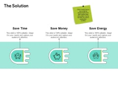 Seed Funding Pitch Deck The Solution Ppt Icon Information PDF