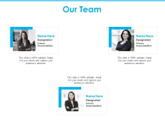 Seed Growth Investing Our Team Ppt PowerPoint Presentation Layouts Deck