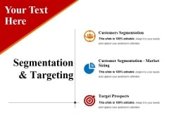 Segmentation And Targeting Template 1 Ppt PowerPoint Presentation Infographic Template Graphics