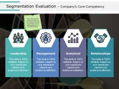 Segmentation Evaluation Companys Core Competency Ppt PowerPoint Presentation Layouts Clipart